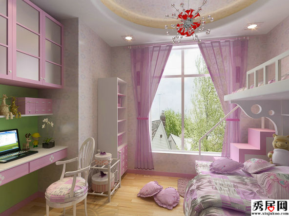 18 3 - Modern girls bedroom design ...